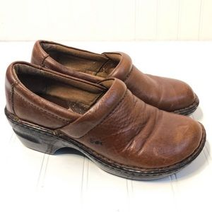 boc Brown Leather clogs mules Comfort Shoes 6.5